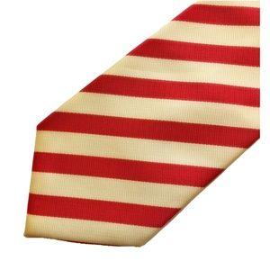 Ermenegildo Zegna Mens Striped Necktie Tie NEW